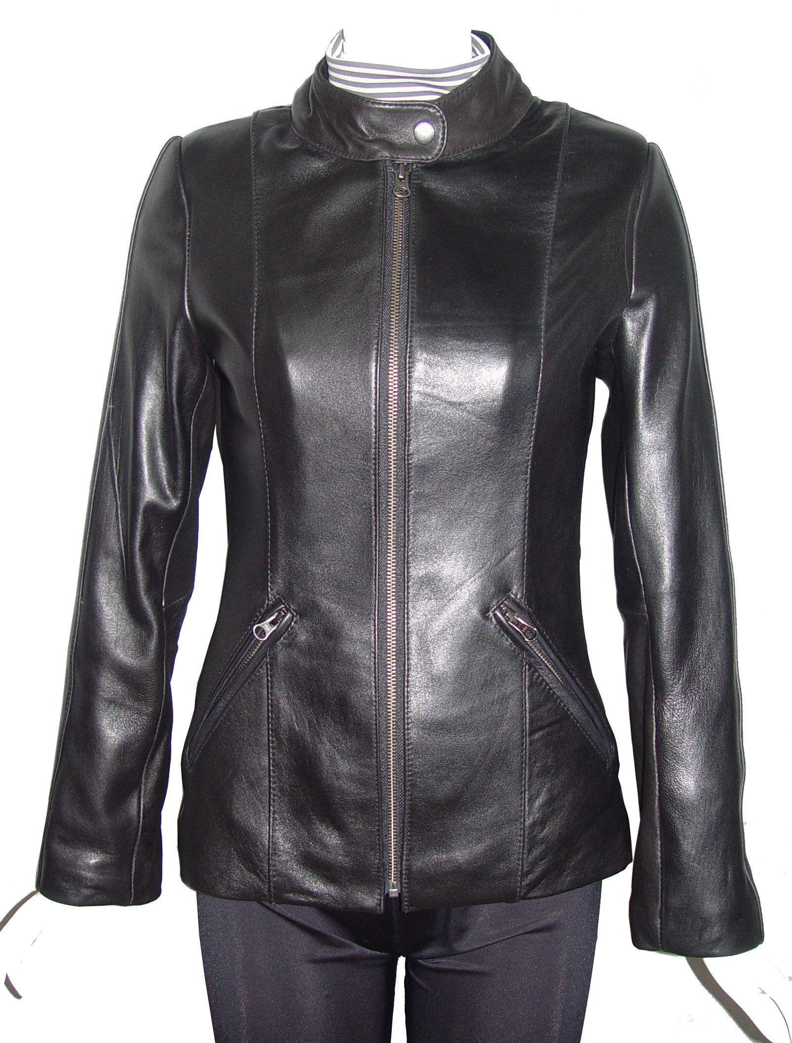 Nettailor Women PETITE & ALL SIZE Fashion 4126 Leather Motorcycle Jacket