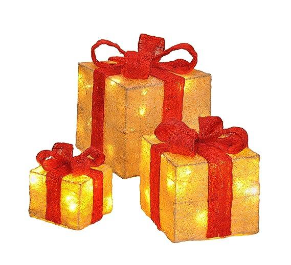 Scatole Per Regali Di Natale.Scatole Regalo Decorativa A Led Set Di Con Funzione Timer Regali