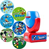 Projectables Mouse & Roadster Racers LED Night Light Projector, Plug-in, Dusk-to-Dawn Sensor, See Disney Characters on Ceilin