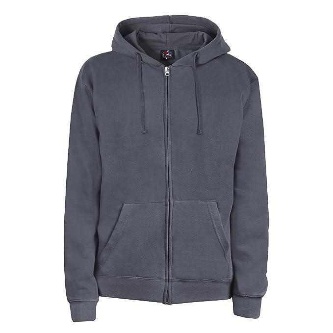 SUMG Apparel Unisex Kapuzenjacke Kapuzen Sweat-Jacke  BASIC Hooded Zipper   (S, 891cca8e41