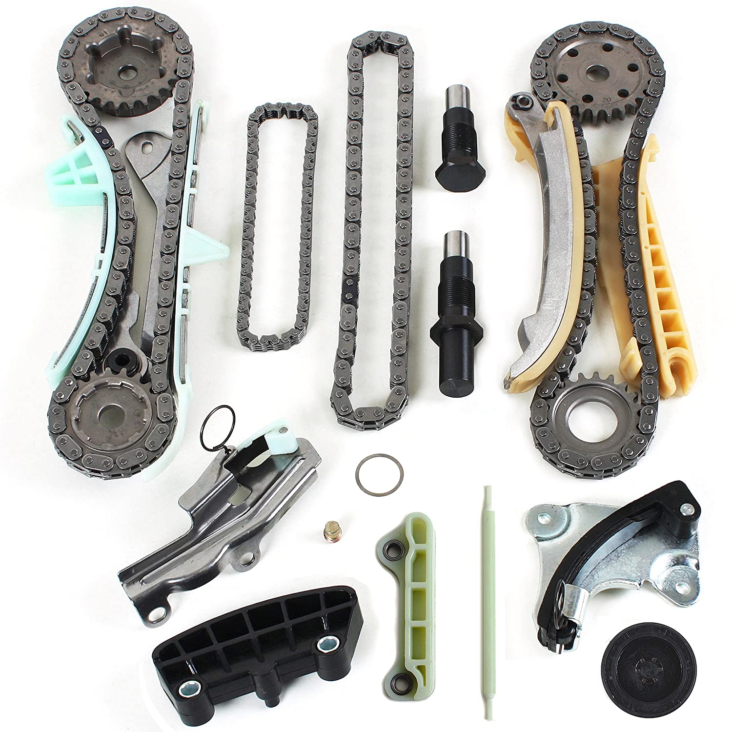 Brand New TK4090 Timing Chains Gears Tensioners Guide Rails Kit for 97-11 Ford Mazda Mercury 4.0L 245 SOHC Engine, VIN Code 'E' 'K' 'N' VIN Code E K N CNS EngineParts