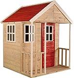 Casita infantil de madera para exteriores   Jardín abierto para niños tipo M Casa de aventura nórdica con Balcón…