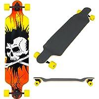 "Best Choice Products 41"" Pro Longboard Cruiser Cruising Skateboard Speed Board Maple Deck Outdoor Drop Through Deck"