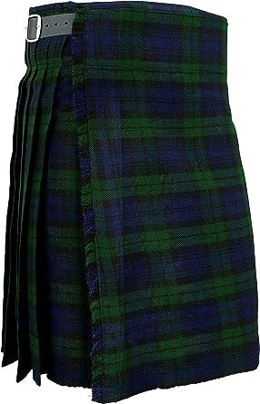 Blackwatch Hamilton Kilts Falda Escocesa Vestido Tierras Altas Tradicional Hombres Kilt