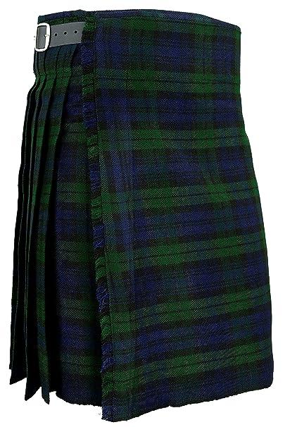 18e2dde6af Hamilton Kilts Falda Escocesa Vestido Tierras Altas Tradicional Hombres  Kilt - Blackwatch  Amazon.es  Ropa y accesorios