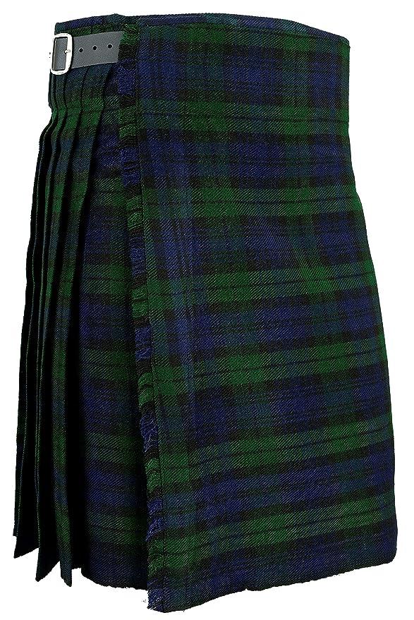 Hamilton Kilts Falda Escocesa Vestido Tierras Altas Tradicional Hombres Kilt - Blackwatch: Amazon.es: Ropa y accesorios