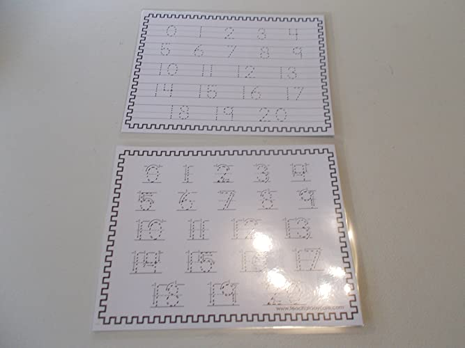 Amazon.com: Twin Pack Dry Erase Directional Numbers 1-20 and ...