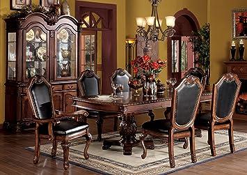 ACME 04075B SET Chateau De Ville 7 Piece Formal Dining Set Table