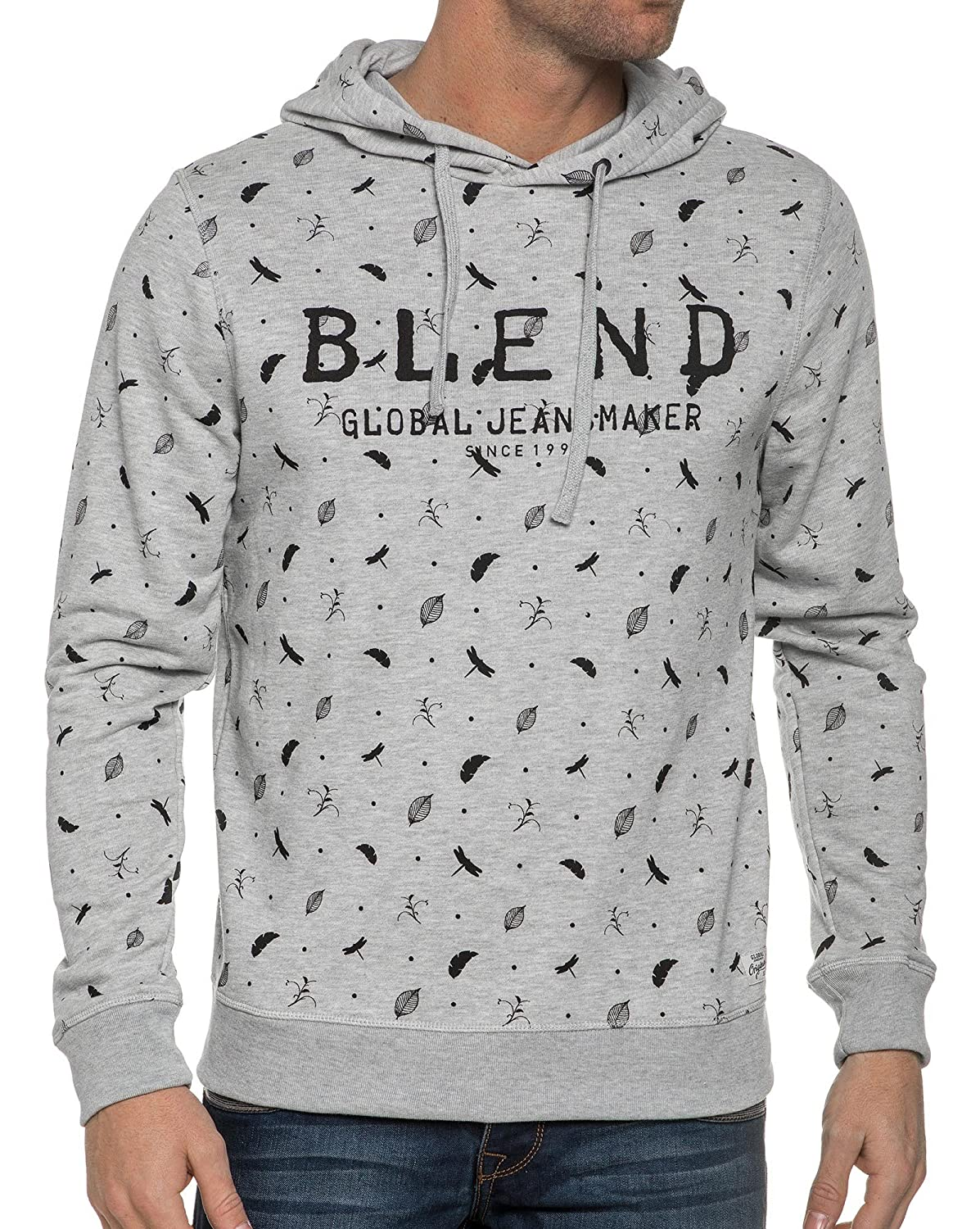 Blend - Sweat Grey Washed Printed Sheets