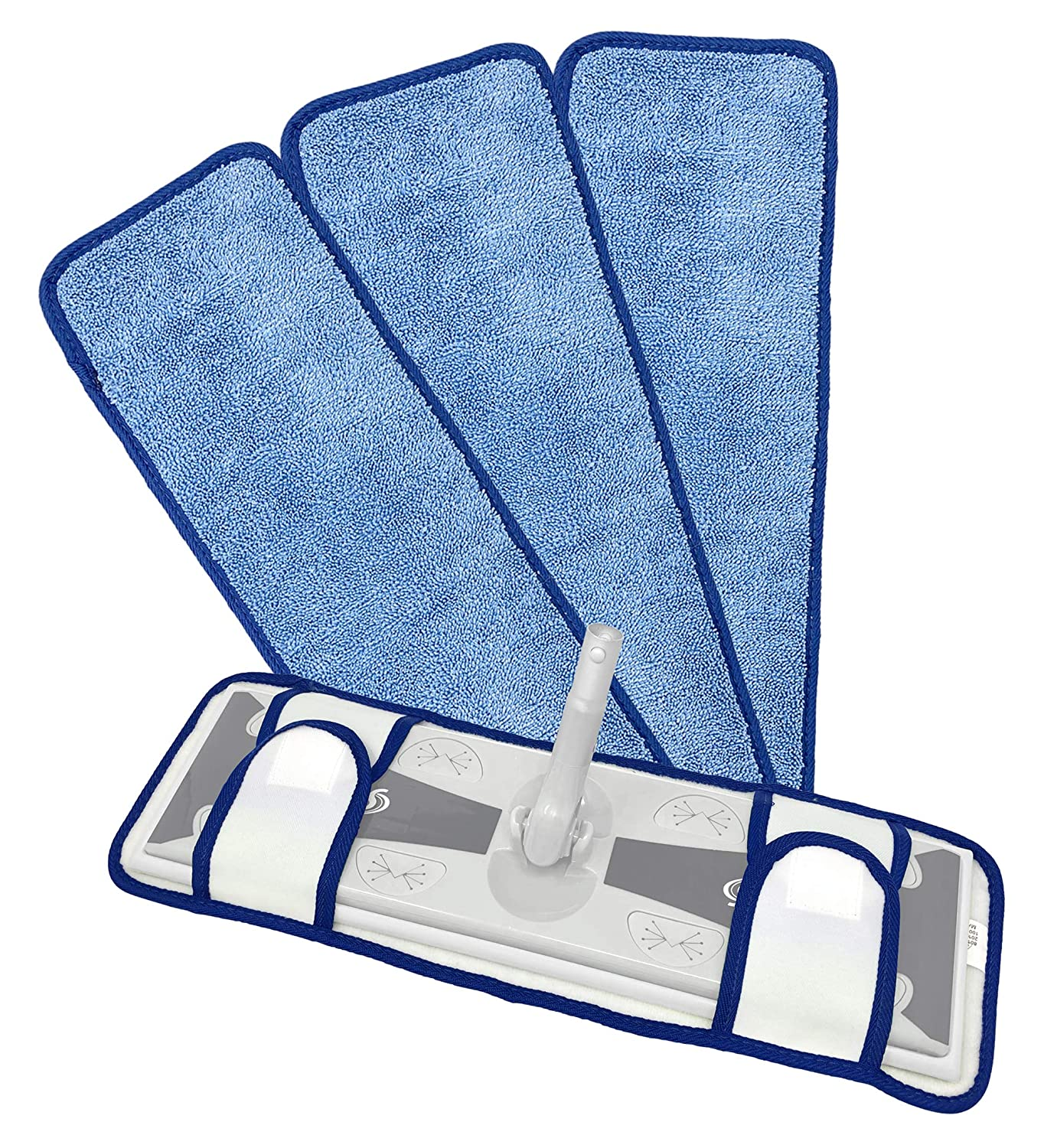 """Xanitize 18"""" Microfiber Mop Pads with Straps 3-pack (X-Large)"""