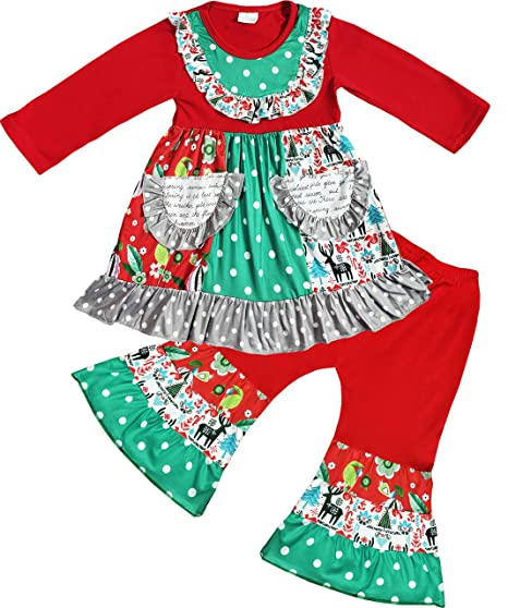 0e8047de07ad3 Angeline Boutique Clothing Girls Christmas Pernickety Outfit Sets