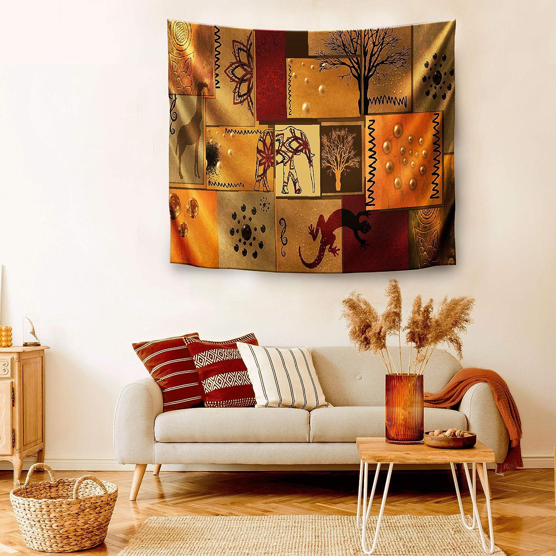 150 x 130 cm Tela poli/éster 100/% Decoraci/òn para Tu Sal/ón o Dormitorio DekoArte TP03 Estilo /Étnico Africano Colores Marrones y Naranjas Tapiz Moderno De Pared Impresi/ón Art/ística Digitalizada