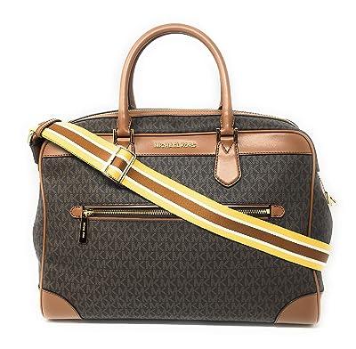 Michael Kors Signature Travel Weekender PVC Bag Brown Luggage
