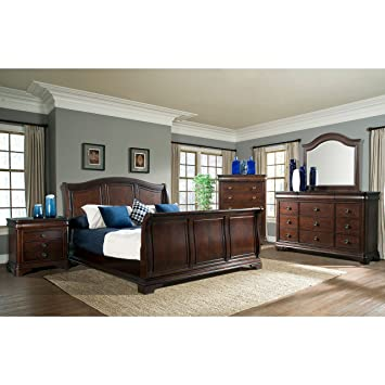 king sleigh bedroom sets. Elements Conley 4 Piece King Sleigh Bedroom Set Amazon com  Kitchen