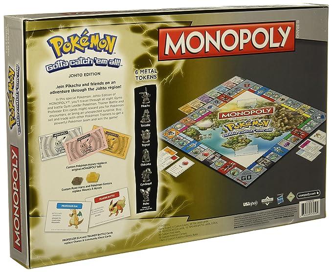Amazon.com  Monopoly Game  Pokémon Johto Edition  Toys   Games c1e06c3680