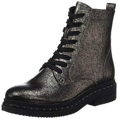 Tamaris Damen 25131 Combat Boots, Silber (Platinum Stru), 40 EU