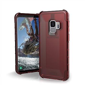 Urban Armor Gear Plyo para Samsung Galaxy S9 Funda con estándar Militar Estadounidense case [Compatible con inducción] - rojo