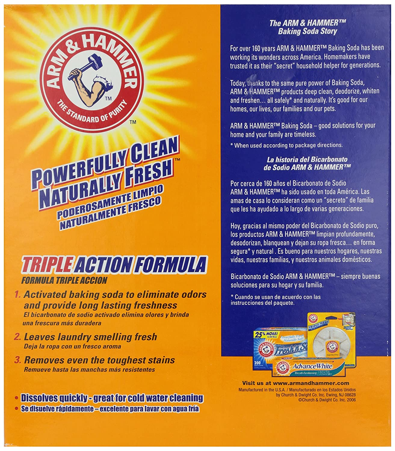 Amazon.com: Arm & Hammer Laundry Detergent, Clean Burst ...
