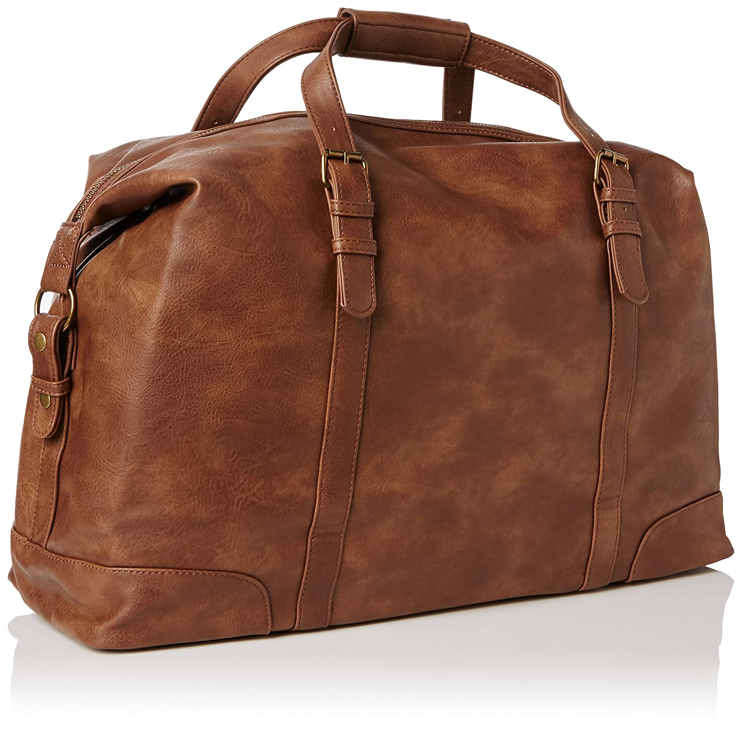New Look Mens Wandsworth PU Holdall Travel Bag Brown Amazoncouk Shoes Bags
