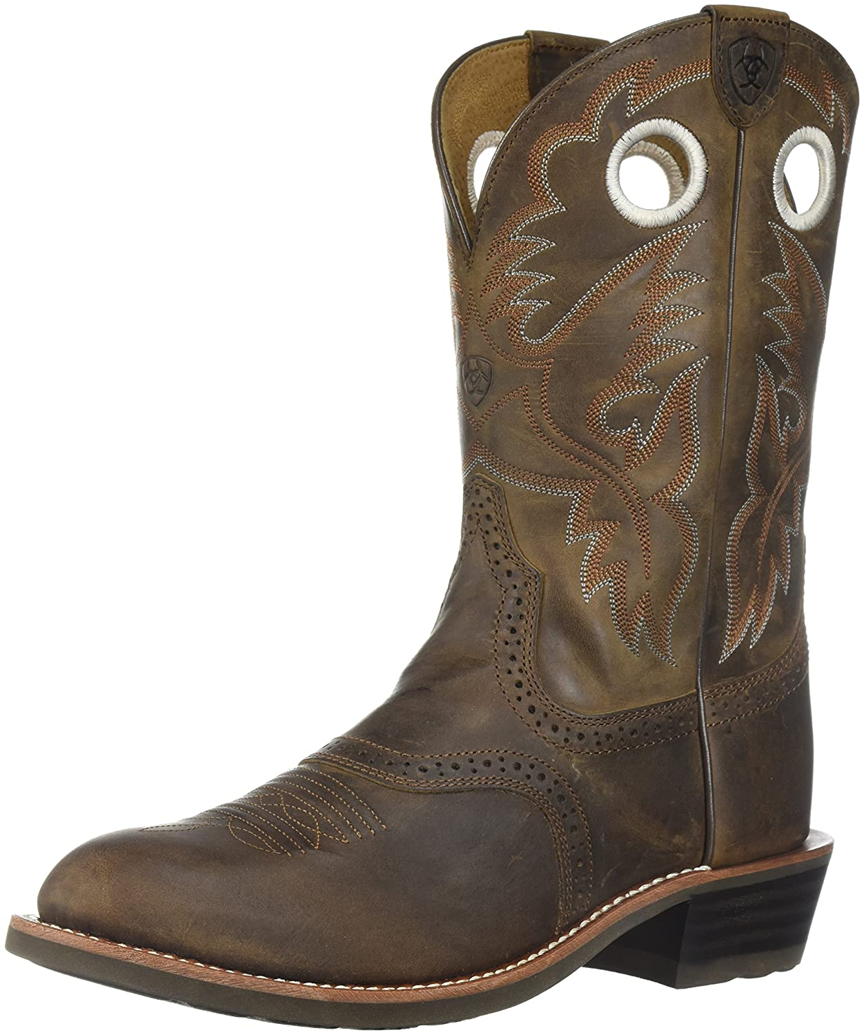 Ariat Women's Heritage Roughstock Western Boot B07CZ3S848 7.5 W US|Antique Brown