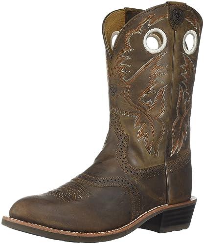 Ariat Women's Heritage Roughstock Western Boot, Antique Brown, ...