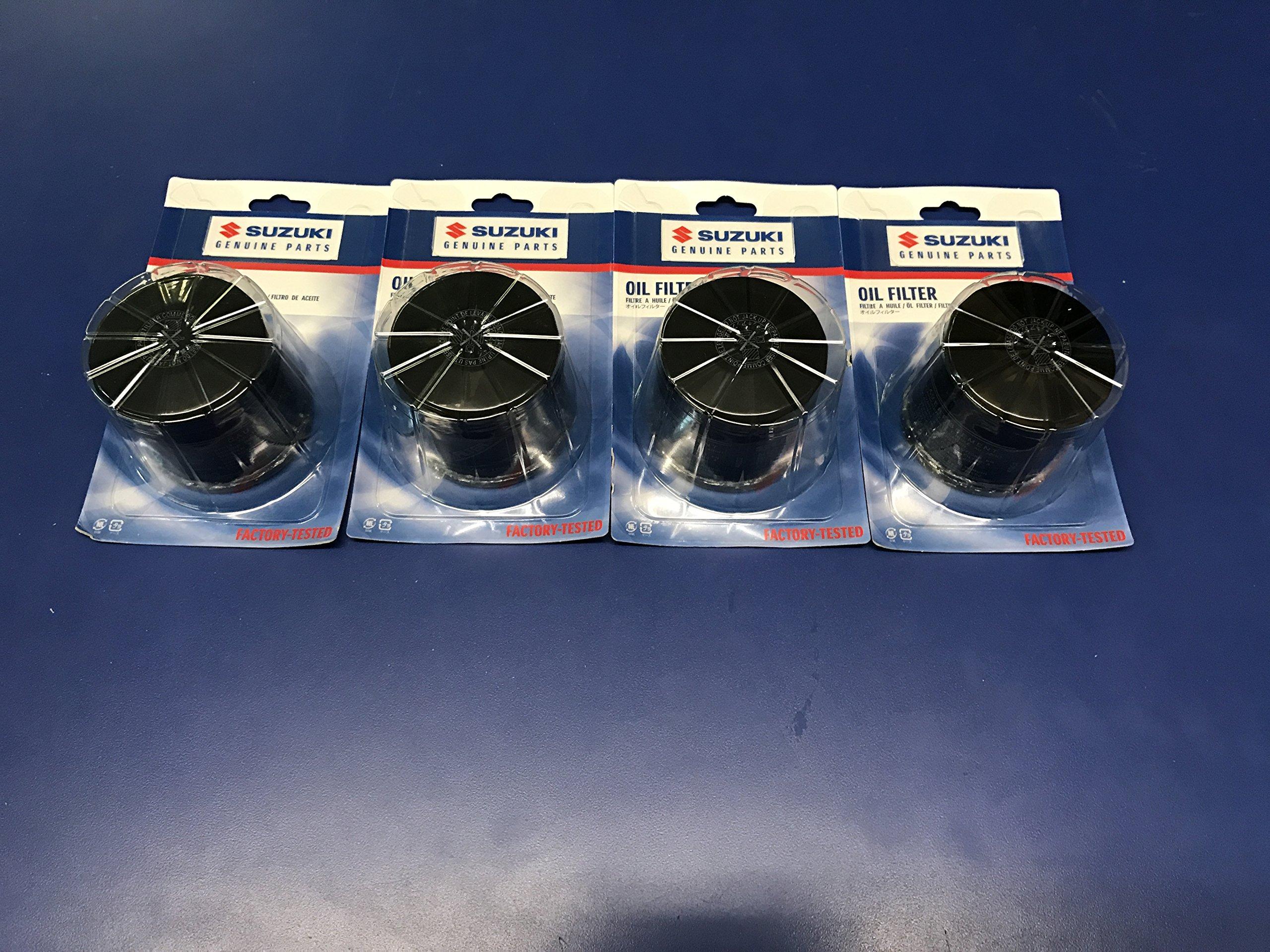 Suzuki 16510-07J00 Oil Filter 4-Pack