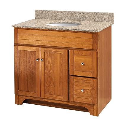 foremost wroa3621d worthington 36 inch oak bathroom vanity rh amazon com oak bathroom vanity makeover oak bathroom vanity units750cm