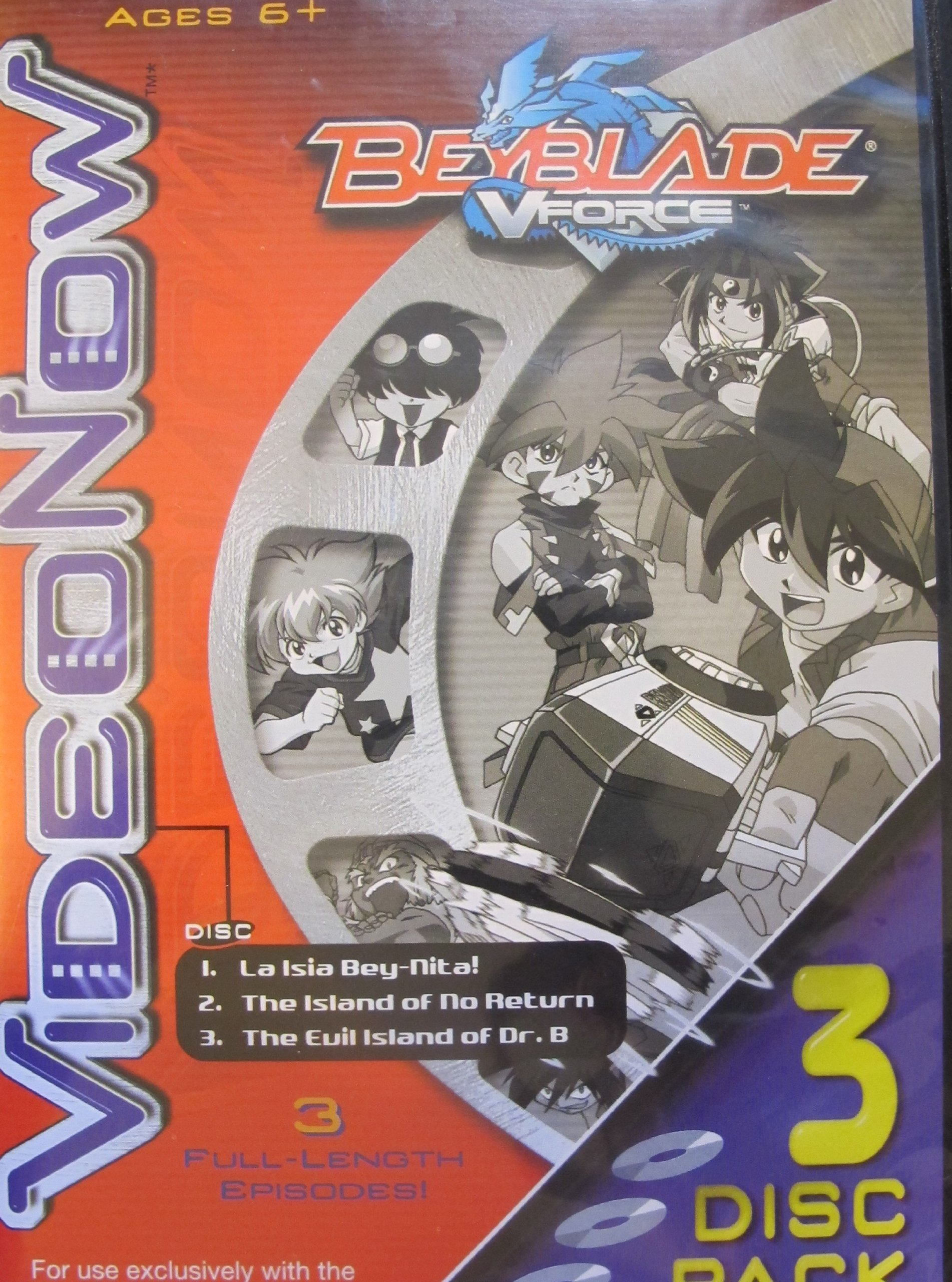 VideoNow BeyBlade VForce: La Isia Bey-nite, The Island of No Return and The Evil Island of Dr. B.