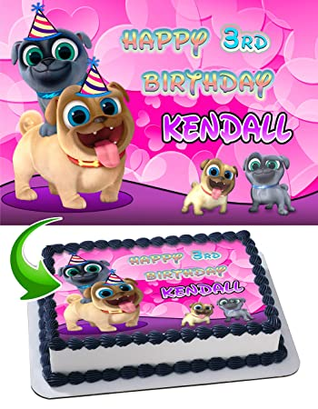 Puppy Dog Pals For Girls Edible Image Cake Topper Personalized Icing