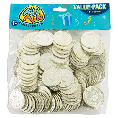 Plastic Gold Coins: Toys & Games