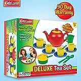 Kidzlane Play Tea Set, 15+ Durable Plastic
