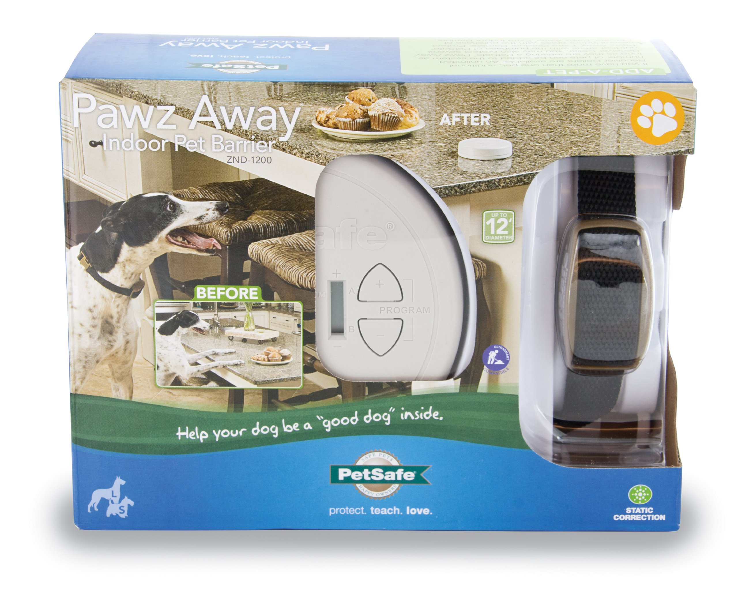 PetSafe Pawz Away Pet Barriers with Adjustable Range, Pet Proofing for Cats and Dogs, Static Stimulation – ZND-1200
