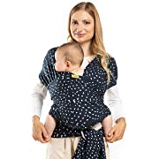 Boba Baby Wrap Carrier, Seville - The Original Child and Newborn Wrap, Perfect for Infants and Babies Up to 35 lbs (0-36 Months)