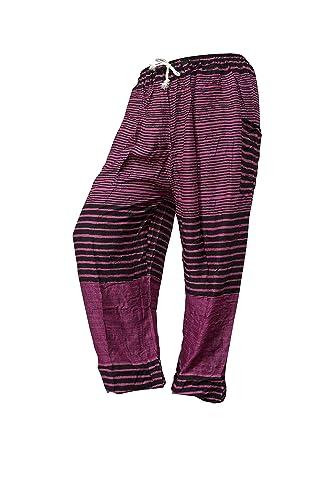 Pantalones holgados con cierre de cuerda amplios MUCHOS DISEÑOS ropa cómoda informal festival yoga p...