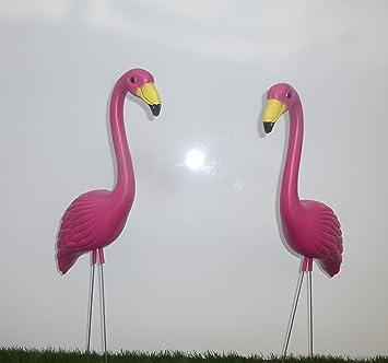 Amazoncom 15 Pink Yard Flamingos Garden Stakes Patio Lawn