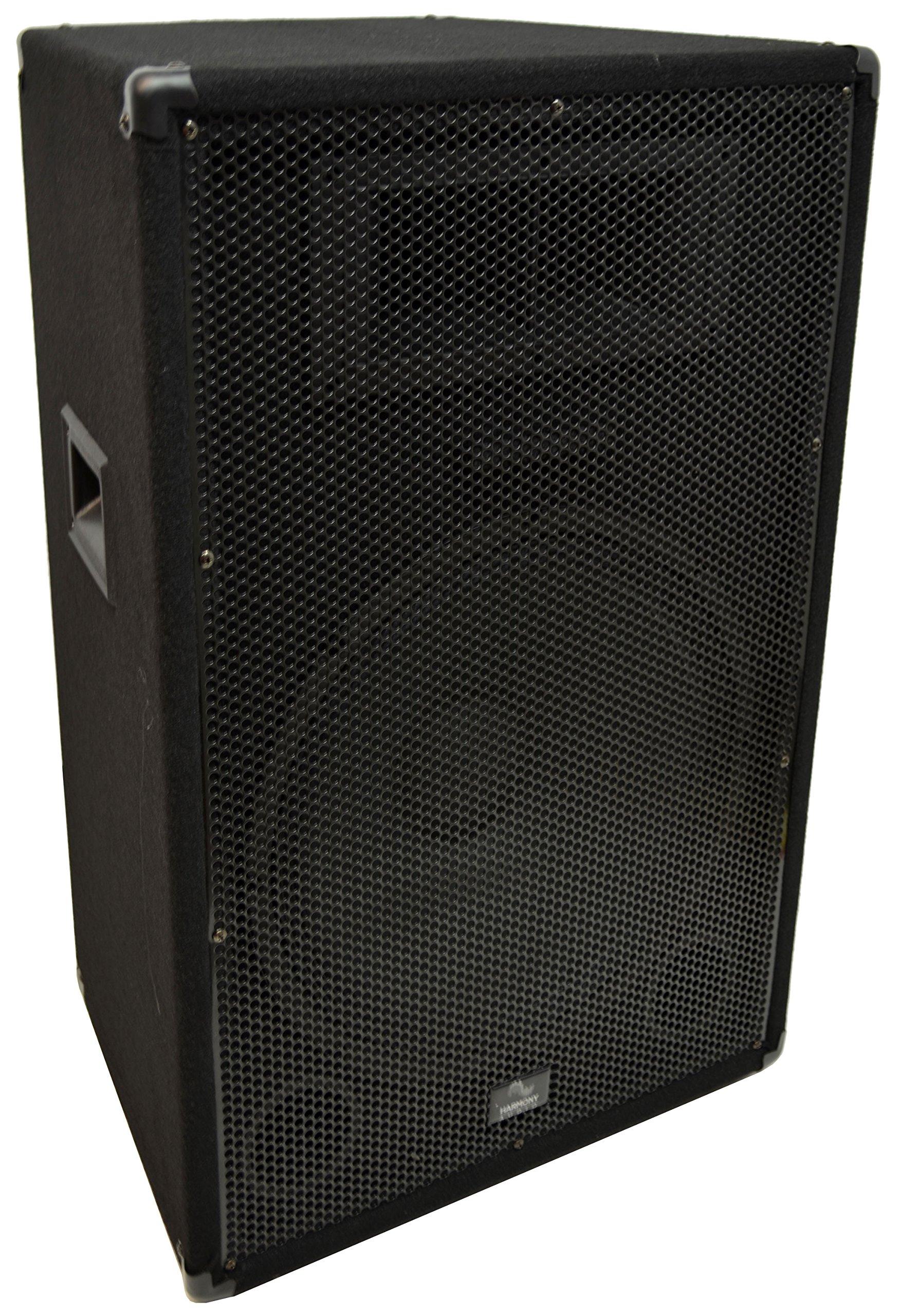Harmony Audio HA-V15P Pro DJ Venue Series 15'' Passive 900W PA Speaker 2-Way Cabinet
