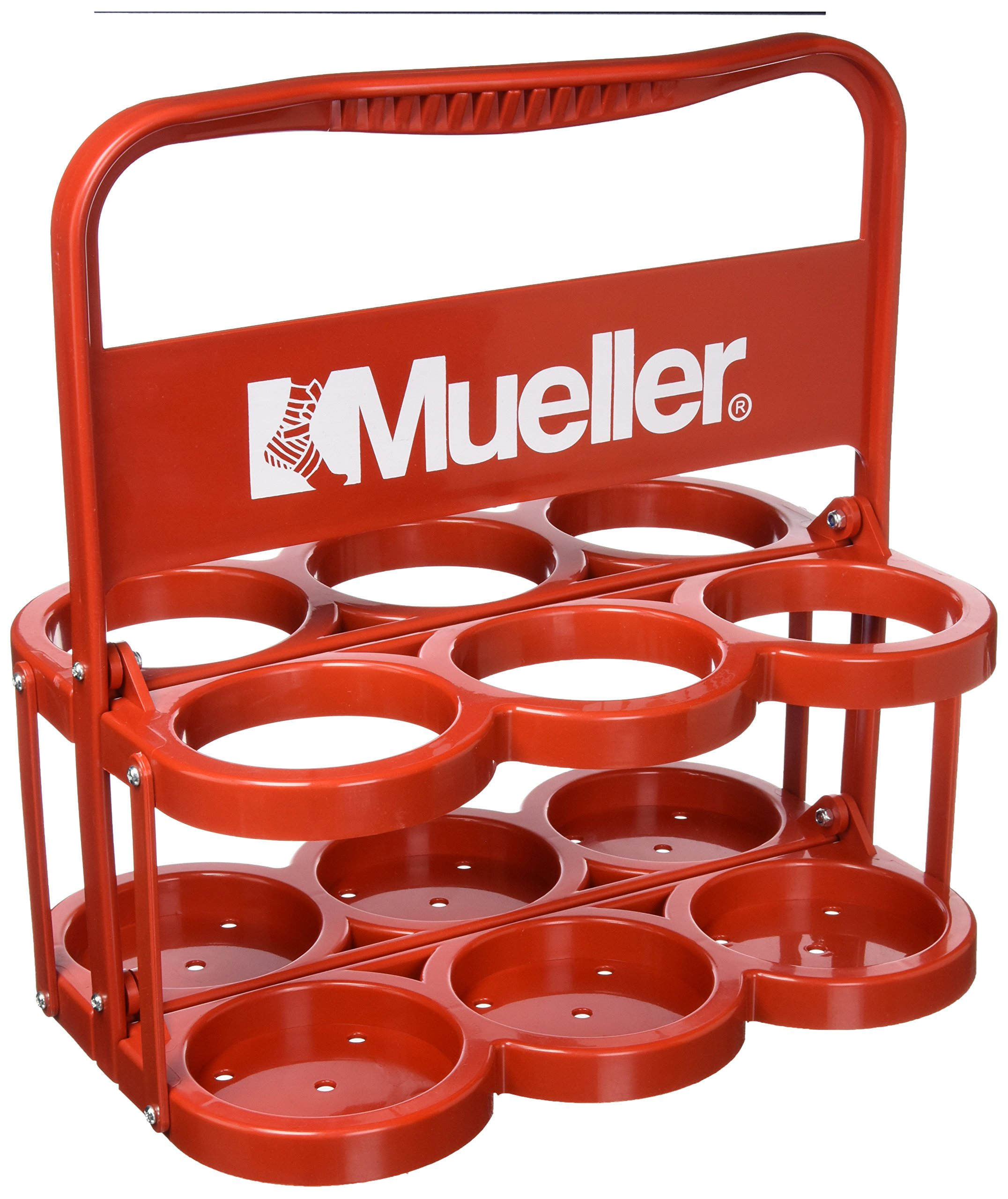 MUELLER Sports Medicine 596939 Water Bottles, Plastic Bottle Carrier- Red by Mueller