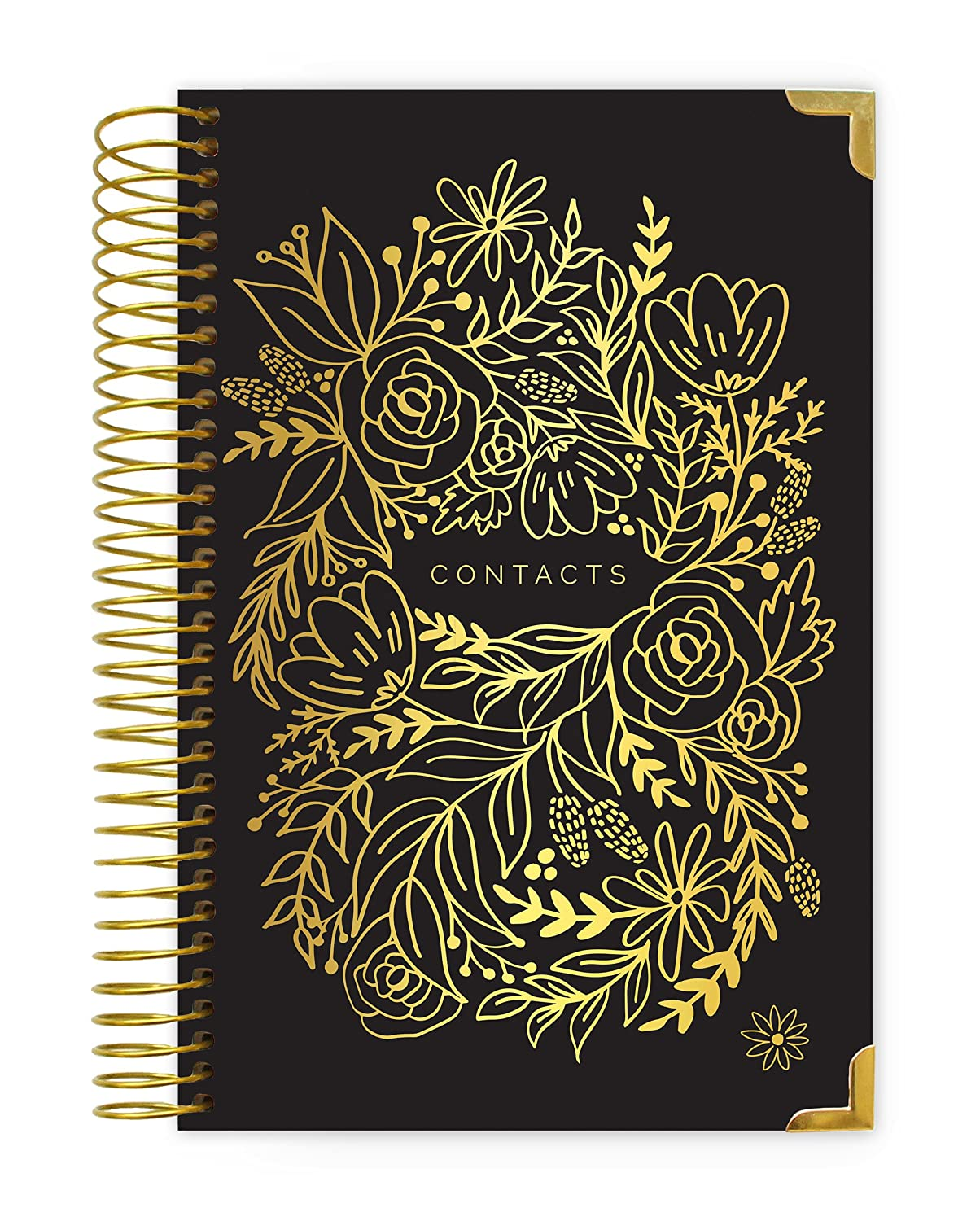 Bloom DailyプランナContact Books Black & Gold Black & Gold  B079VV9CVN