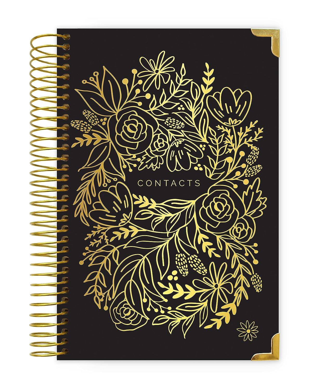 Bloom DailyプランナContact Books Black & Gold B079VV9CVN  Black & Gold