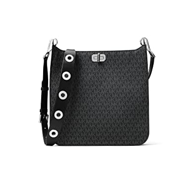 e1362f86fbea Image Unavailable. Image not available for. Color  MICHAEL Michael Kors  Large Signature Messenger Bag Black