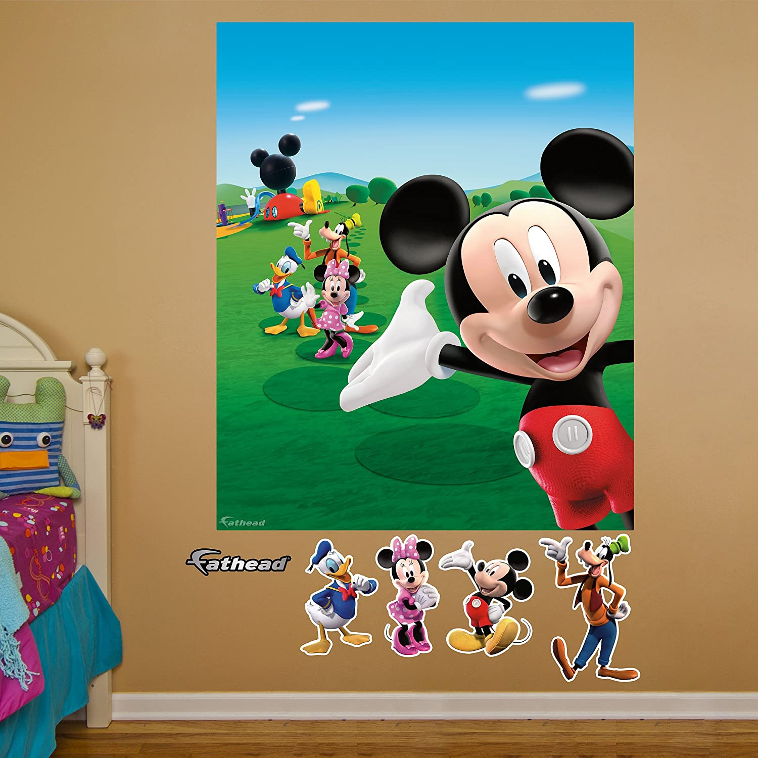 Amazon.com: FATHEAD Mickey Mouse Clubhouse Mural Graphic Wall ...