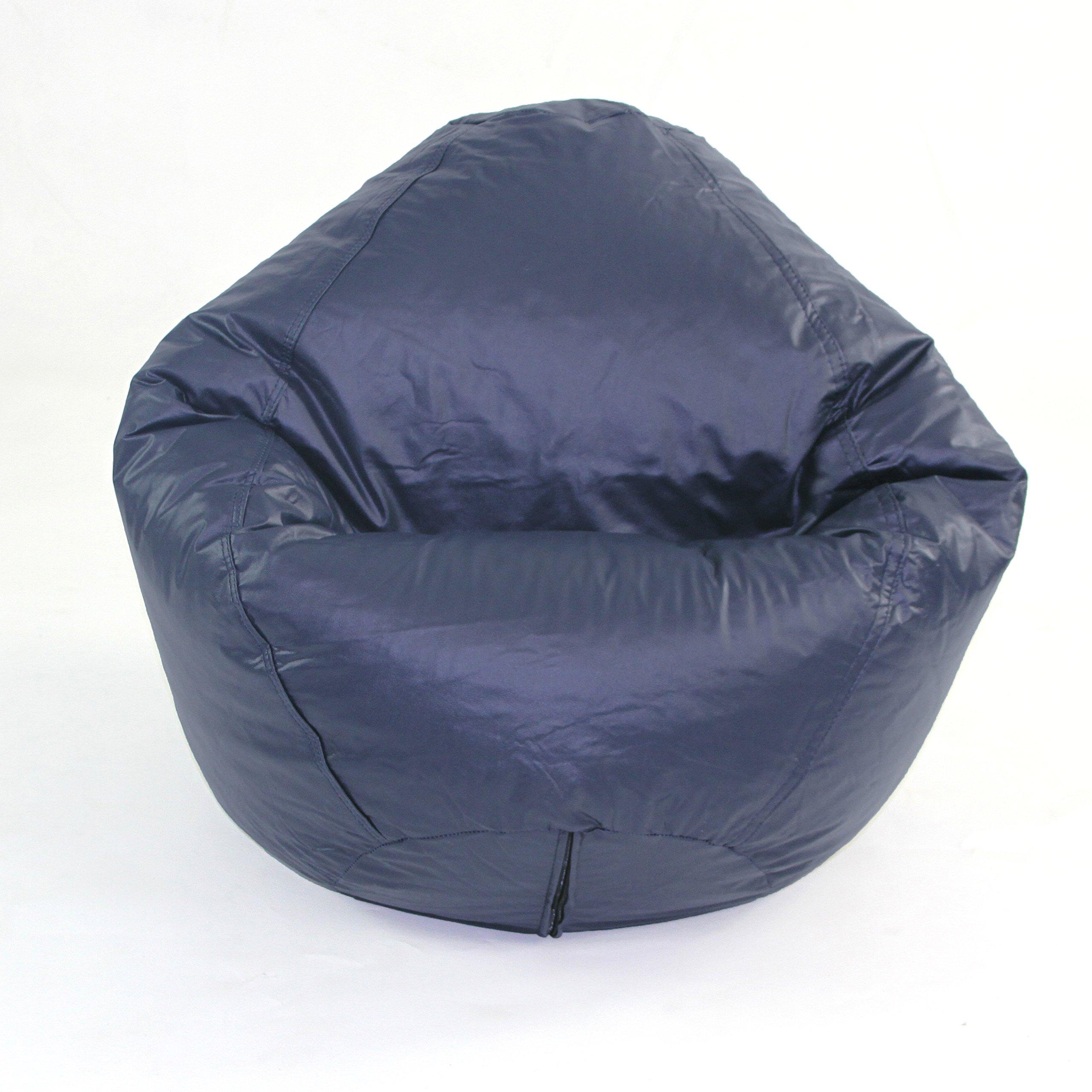 American Furniture Alliance Fun Factory Classic Bean Bag, Medium, Navy