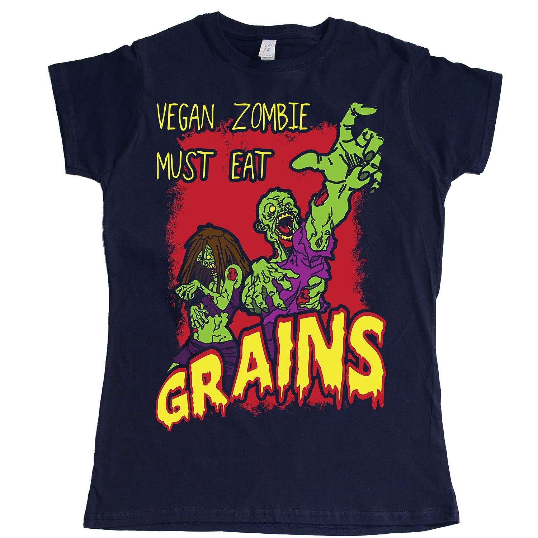 Stooble Womens's Vegan Zombie T-Shirt Stooble - 1ClickPrint