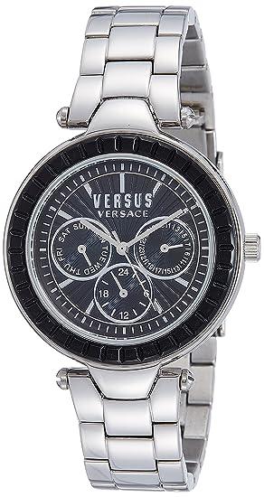 Versus Versace SOS070015 - Reloj de Pulsera Mujer, Acero Inoxidable, Color Plata