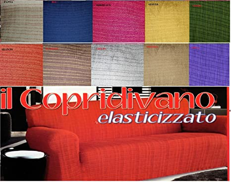 Copridivano misura 5 posti cotone elastico per divani da 2,60 a 3,00 ...