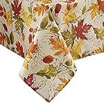 Elrene Home Fashions Mantel Estampado de otoño con Hojas