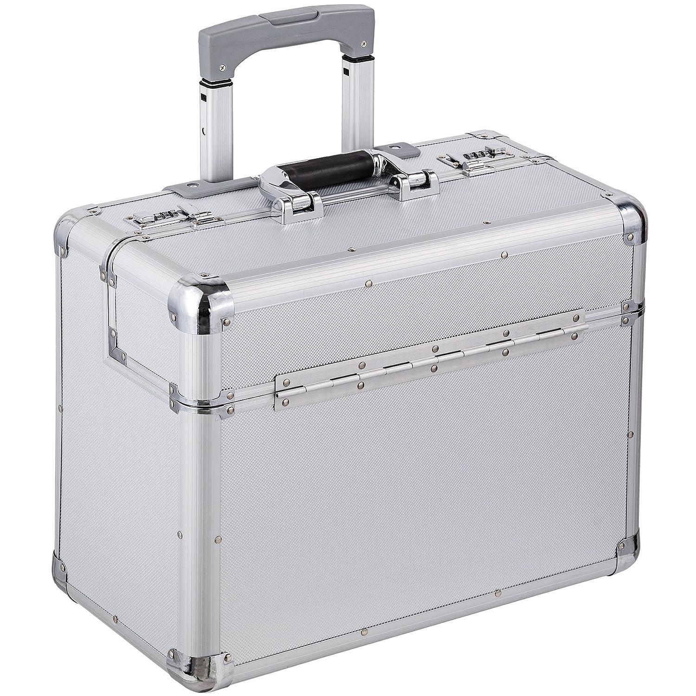 TecTake pilot case trolley valise mallette de pilote sac à roulettes poignée 401231