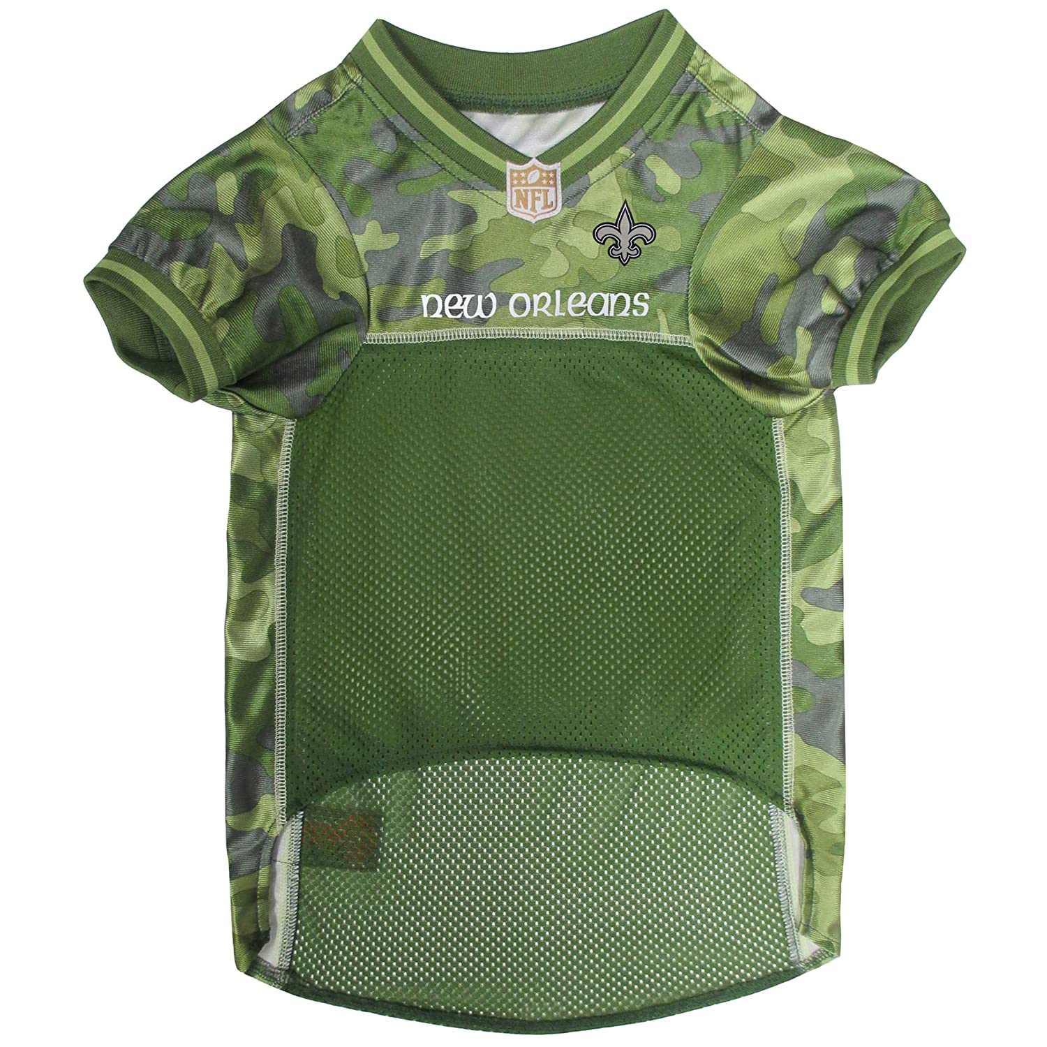 53ea10b78f6 Amazon.com : NFL New Orleans Saints Camouflage Dog Jersey, Small. - CAMO  PET Jersey Available in 5 Sizes & 32 NFL Teams. Hunting Dog Shirt : Pet  Supplies