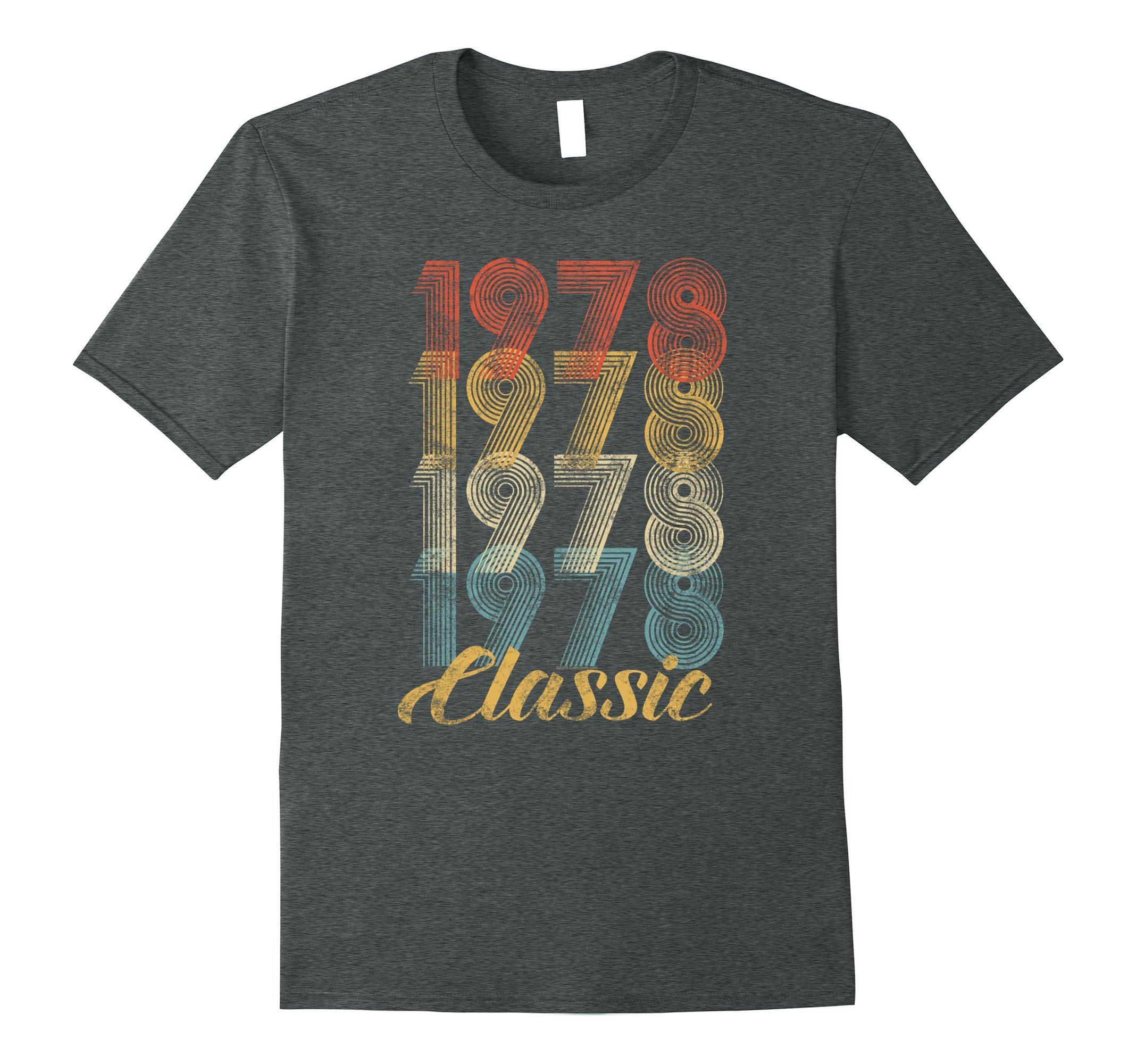 Mens CuteComfy 40th Birthday Gift Vintage 1978 T-Shirt Men Women Large Dark Heather