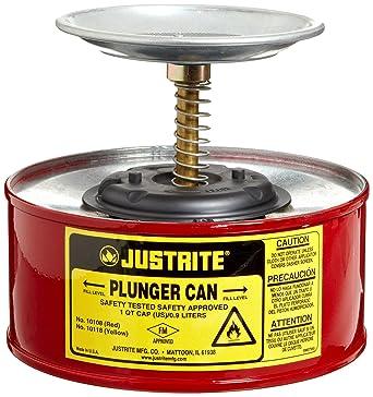 JustRite 10108 émbolo de acero de seguridad para abrir latas, con montaje de bomba Ryton